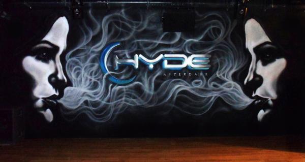 Graffiti in HYDE nightclub
